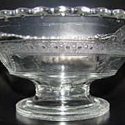 Early American Pattern Flint Glass Compote - Minerva/Cupid & Venus Pattern