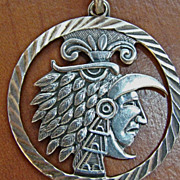 Mexican .950 Silver Warrior Pendant with Bale