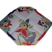 Vintage Tom Lamb Designed Mexican Style Chicken Hankie