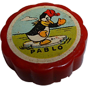 Vintage Disney Character PABLO the Penguin BAKELITE Pencil Sharpener