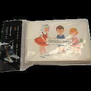 Vintage Birthday Invitation Cards 1960's Set of 10 MIP