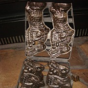 Wonderful Old Framed Bunny Rabbits Chocolate Mold Great Easter Bunny!