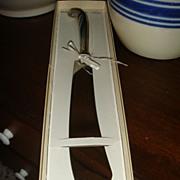 SALE New In Original Box Vintage Webster Creations Sterling Silver Cake or Bread Knife