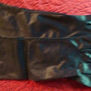 """100% Nylon Made in U.S.A.Van Raalte Size 7 Vintage Ladies'  15"""" Black ..."""