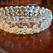 SALE Clear Crystal Hobnail Vintage Ashtray Tobacciana Collectible!