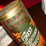 SOLD 1990 HARROD'S of London Lemon Shortbread Colorful Biscuit Tin