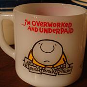 SALE ZIGGY Overworked & Underpaid Mug Tom Wilson 1977 Universal Press