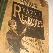 SALE LEARY'S READY RECKONER 1904 Form Book & Wages Calculator Oldest Bookstore Philadelphia, P