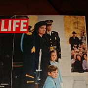 SALE LIFE Magazine JFK Assassination: Jackie, John Jr.,  Caroline Kennedy Wait to Process to C