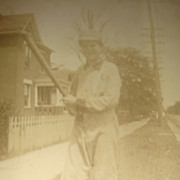 SALE Early Real Photo Picture Postcard Boy in Baseball Uniform Paducah, KY Estate