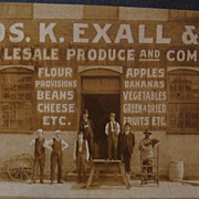 SALE Jos. K. Exall & Co. Produce  Advertising City Matted Photo Card Paducah, KY Estate