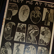 SALE Wisconsin 'Meet Me At The Postcard Shop' Paas Book Store Campbellsport HTF Large Letter