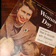 SALE 1957 Woman's Day Magazine 'Her Majesty, A Mother,' Queen Elizabeth 20th Anniversary Adver