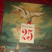 SALE Early German Christmas Postcard Dove Delivers December 25 Greetings to the Village