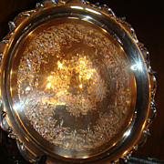 SALE Wilcox International Silver Joanne Ornate Plated Ruffled Edge Tray  Platter KY Estate