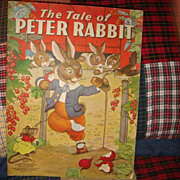 SOLD 1938 The Tale Of Peter Rabbit Linen Like Paper Children's Book