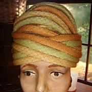 SALE Easter Bonnet Christian Dior Net Turban Style Hat 1950's-60's,  KY Derby ...