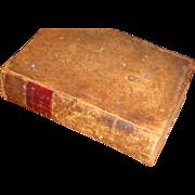 "SALE 1849 METHODIST HYMNS Leather 6 1/2"" Book Primitive"