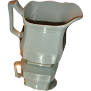 SALE J & G Meakin White Ironstone Pitcher Block Optic Pattern Hanley, England