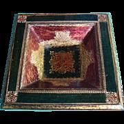 SALE Florentine Florentia Tag Tri Color Ashtray Made in Italy Gesso