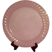 SALE Deep Rose Pink Fire King Swirl Large Round Platter 11 Inches Salver
