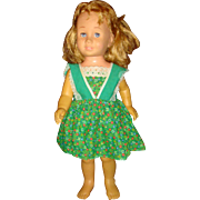 SOLD ON HOLD FOR SJ 1960 Mattel Chatty Cathy Strawberry Blond Probably Pigtails Pinafore, Red