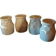 SALE Set of 4 Anchor Hocking Fire King Milk White Georgian Tumblers HTF