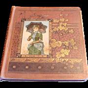 SOLD 1876 Ephemera Large Victorian Scrapbook Die Cuts, Children, Fruits, Flowers, Fashion, Adv