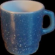 SALE Fire King Anchor Hocking Blue Speckled Granite Mug