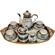 SALE 13 Piece Japan Moriage Dragonware Dragon Ware Tea or Chocolate Pot Set Slip Decoration