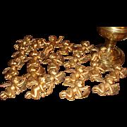 SALE 20 Vintage Gold Hollow Plastic Angel Cherubs Christmas Ornaments Estate
