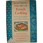 SALE 1961, 1966 Mastering The Art of French Cooking Julia Child, Bertholle, Beck With Dust ...