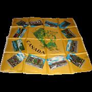 SALE Souvenir' De Montreal Canada Silky Scarf Fabrique' Au Japon Map and Famous Landmarks