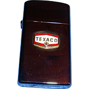 SALE Slim Line Zippo Texaco Advertising Vintage Lighter Like New Flip Top