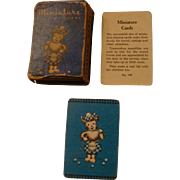 Miniature Doll Size Playing Cards Scottie Dogs Original Box Complete Deck