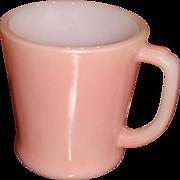 SALE Fire King Pink D Handle Mug Hard to Find Color
