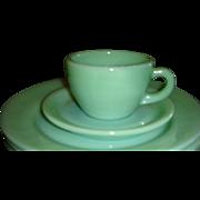 SALE Fire King Heavy Restaurantware Jadite Cup and Saucer Set(s)