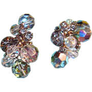 Juliana Crystal Baubles and Prong Set Rhinestone Earrings Dazzle Clip Ons