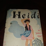 1939 HEIDI Hardback Book With Dust Jacket Great Classic!