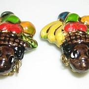 Ceramic Carmen Miranda Earrings