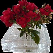 Glass & Lucite Mid Century Flower Arranger Vase