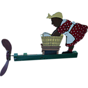 SALE Mammy & Washtub Wood Whirligig