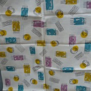 Cancelled Stamp Fabric Vintage