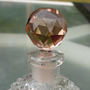 Czech Cut Crystal Perfume Bottle