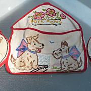 SOLD Doggie Embroidered Pot Holder Set