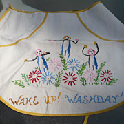 Embroidered  Clothes Pin Apron
