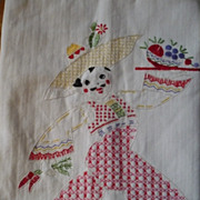 Latin Waiter Hand Embroidered Towel