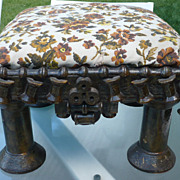 Vintage Folk Art Spool Stool