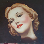 1930  Airbrush Art Lady
