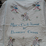 Child's Embroidered Quilt Cover
